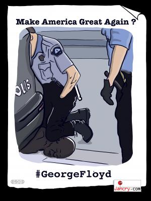 GeorgeFloyd écrasé par un policier U.S.